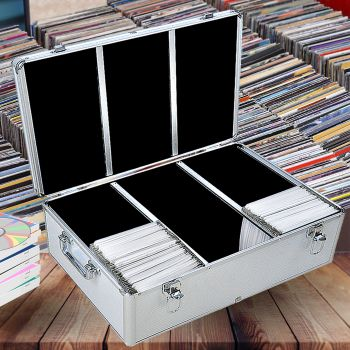500 Discs Aluminium CD DVD Cases Bluray Lock Storage Box Organizer Free Inserts