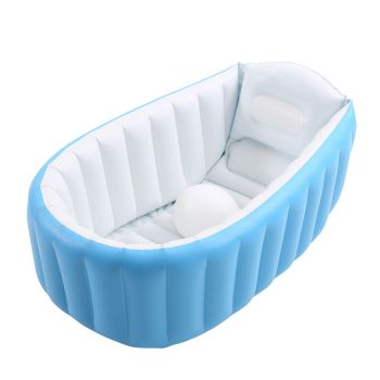 Inflatable Baby Bath Tub Swimming Pool in Blue