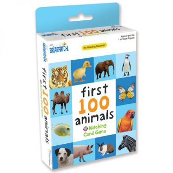 First 100 Matching Card Game - Animals (12pc Display)