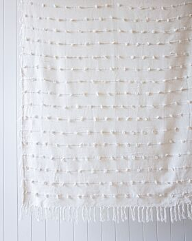 Throw Blanket - Windsor - Natural - 125x150
