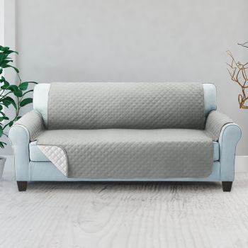 Artiss 1 2 3 Seater Sofa Cover Quilted Couch Covers Lounge Protector Slipcovers Grey