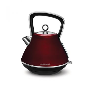 Morphy Richards Evoke 1.5L Pyramid Kettle Red - 100108