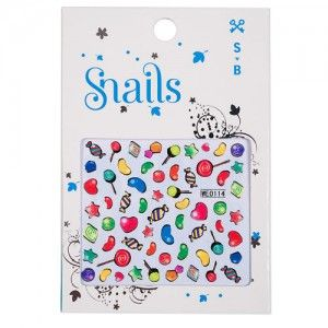 Snails Candy Crush nail stickers