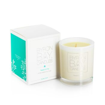 Scented Pure Soy Candles 50hr gift boxed - festivity
