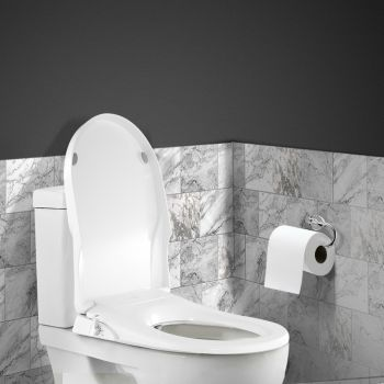 Toilet Bidet Seat Non Electric Hygiene Dual Nozzles Spray Wash Bathroom D shape