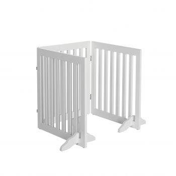 Charlie's Durable 100% MDF 3 Panel Freestanding Pet Gate White