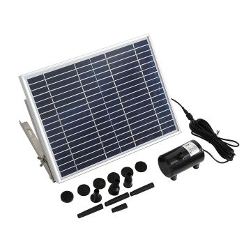 Solar Powered Outdoor Water Fountain Garden Pond Pump 15W