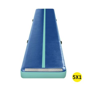 5x1M Inflatable Air Track Mat for Home Gymnastics in Blue