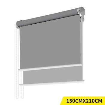 Modern Day/Night Double Roller Blinds Commercial Quality 150x210cm in Grey