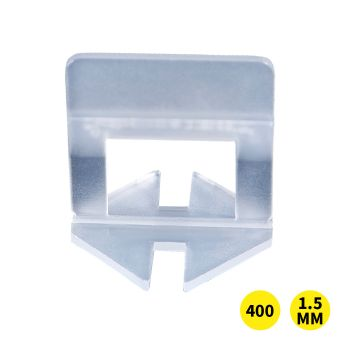 400x 1.5MM Tile Leveling System Clips Space Saving Tiling Tool