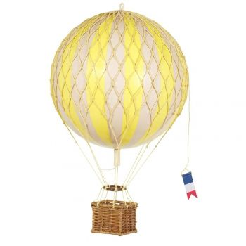 Floating The Skies Hot Air Balloon Model 8.5 CM True Yellow