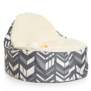 Chibebe Chevron Baby Bean Bag - Cream
