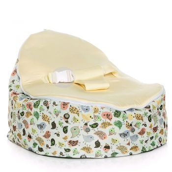 Chibebe Teeny Birds Baby Bean Bag - Cream