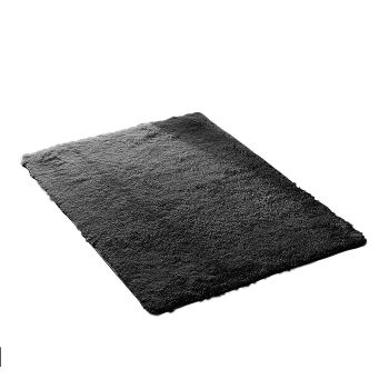 Designer Shaggy and Soft Home Decor Floor Rug 80x120cm in Black