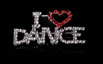I Love Dance Brooch