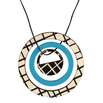 Pendant in blue with lines