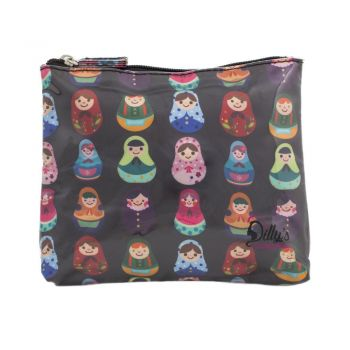 Babushka Print Small Cosmetic Bag