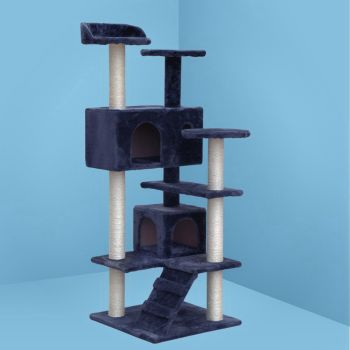 i.Pet Cat Tree Trees Scratching Post Scratcher Tower Condo House Furniture Wood 134cm