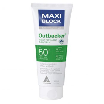Maxiblock Outbacker SPF50+ with insect repellent  (100 grams)