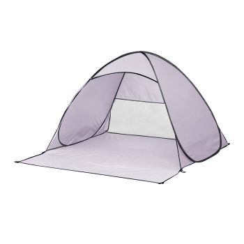 Mountview Pop Up Portable 4 Person Beach Tent in Grey Colour