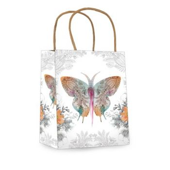 Mini Gift Bag-Paisley Butterfly