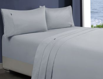 Double Bed 1000TC Egyptian Cotton Sheet Set in Silver