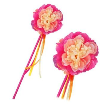 Peony Flower Fairy Wand-Hot Pink - Pack Size 6