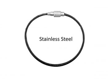 Tag Wire Black Coated 1.5mm 150mm G316 Stainless Steel TRADE PACKS