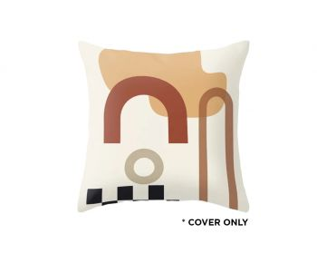 Indoor Cushion COVER - Neutral Shapes - 45x45