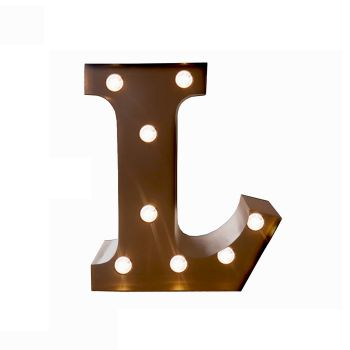 LED Metal Letter Free Standing Hanging Lights Marquee Event Party Decor Letter L