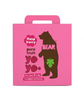 BEAR Fruit Rolls Raspberry 5 x 100g - Healthy Fruit snacks