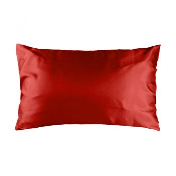 Std Satin Pillowcase 48cm x 73cm Scarlet