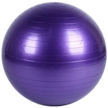 Yoga Ball with Pump for Pilates Gym Home Exercise & Rehab 85cm Purple