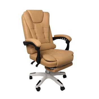 Exective Gaming Chair PU Leather Office Computer Seat in Brown