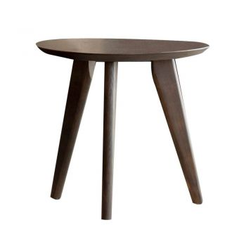 Kyoto Modern Oriental Lamp Side Table - Cappuccino