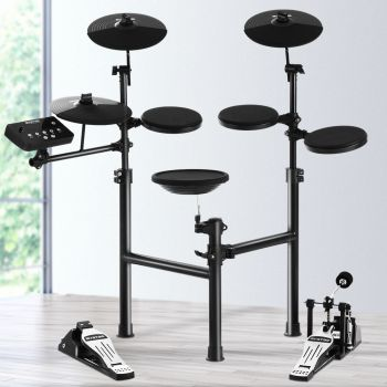 8 Piece Electric Electronic Drum Kit Drums Set Pad Tom For Kids Adults Foldable