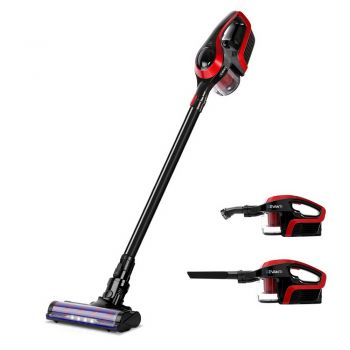 Devanti Handheld Vacuum Cleaner Cordless Stick Handstick Recharge LED Light BK