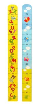 Wooden Height growth chart - Letters