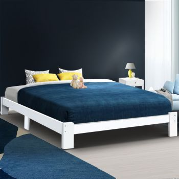 Artiss Bed Frame King Size Wooden Bed Base Timber Foundation Mattress Platform