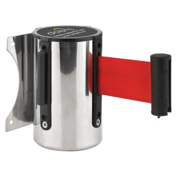 Dolphy Wall Mounted Retractable Queue Barrier Belt