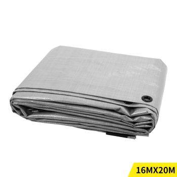 4.9x6.1M Heavy Duty PE Poly Tarps Camping Cover 200gsm