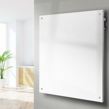 Devanti Metal Panel Heater Wall Mount Infrared Heaters Small Space Radiant Heat Rapid Warm Heat Freestanding Home Office Room Heating 450W White