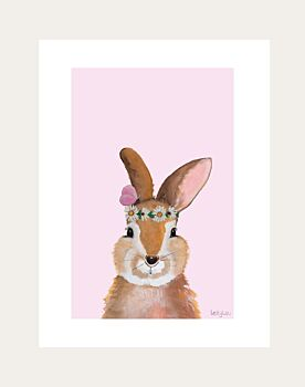 Rachel Rabbit Daisy Low Down Print
