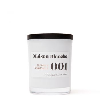 Cotton & Chamomile / Medium Candle