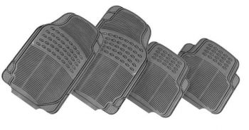Thunder 4-Piece Car Mat - Grey [Rubber]