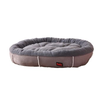 PaWz Heavy Duty Warm Winter Soft Pet Beds for Cats and Dogs Size M in Grey