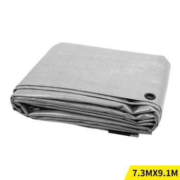 9.1x7.3M Heavy Duty PE Poly Tarps Camping Cover 200gsm