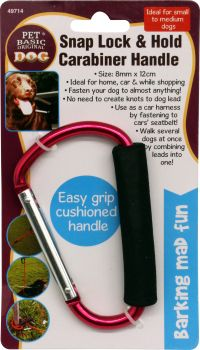 Dog Handle Snap Lock And Hold Carabiner 8mm x 12cm