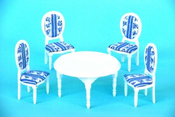 Wooden White Oval Table Dinning Room Set