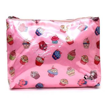 Cupcake Print Multi-Purpose Cosmetic Bag